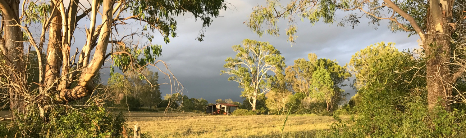 A rural property  that has a high level of bushfire risk to assets